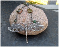 dragonfly necklace from My Lil Market Mommy Jewelry Etsy Shop