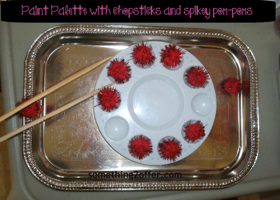 paint palette chopsticks