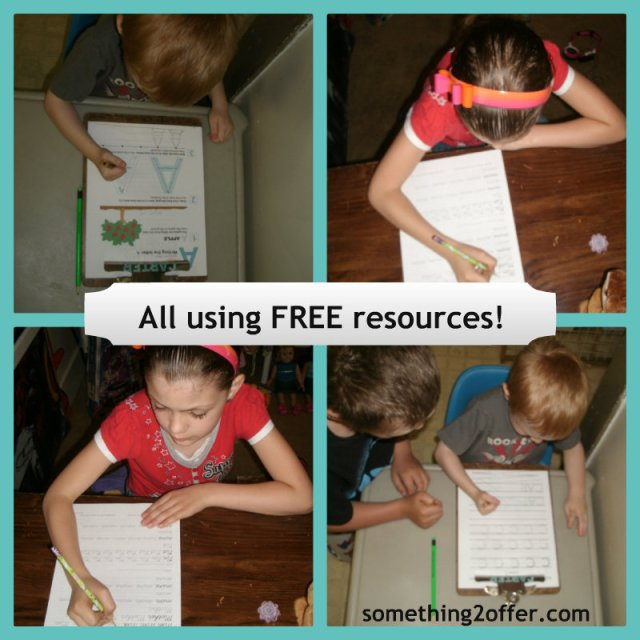 free handwriting resources