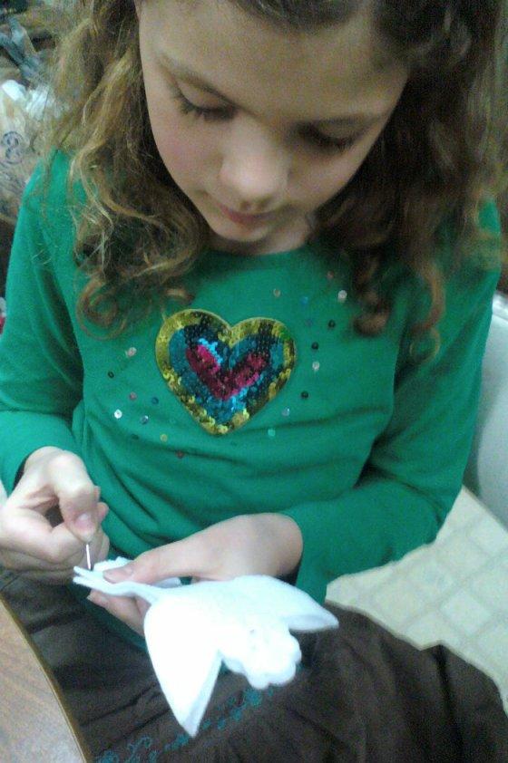 Princess stitching angel ornament