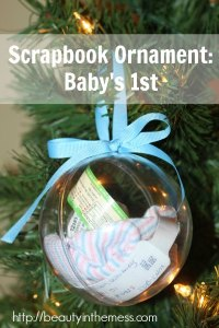 Homemade Christmas Keepsake Ornament from Beauty in the Mess