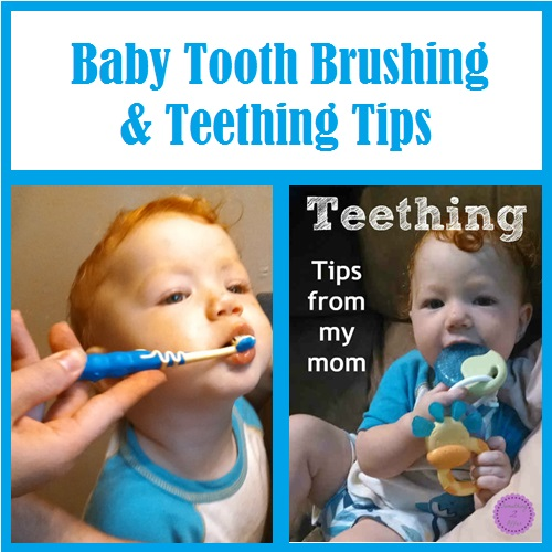 tooth brushing and teething tips