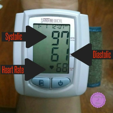 blood pressure monitor labeled