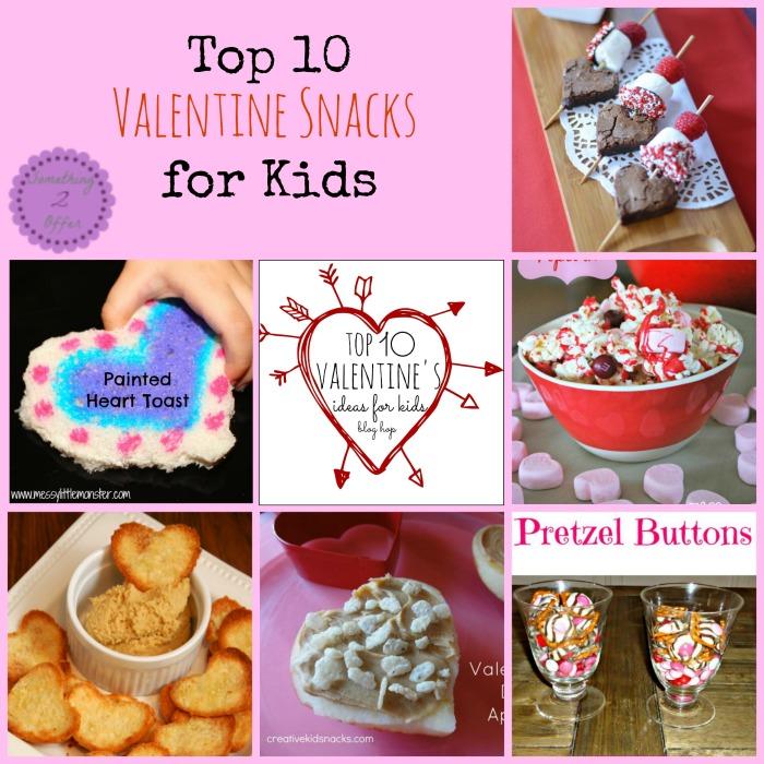 valentine snack Collage