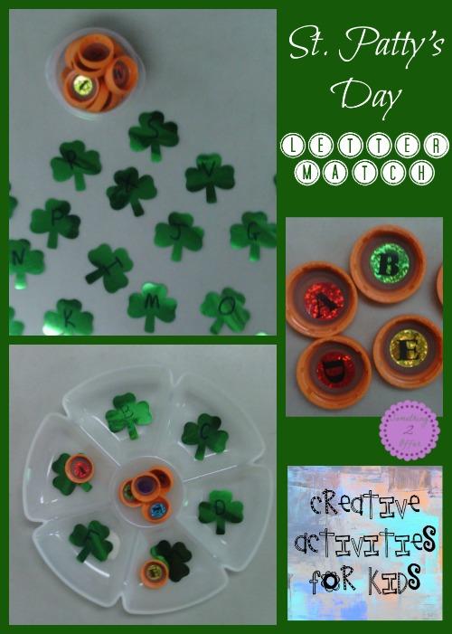 St Patricks Day Letter Match