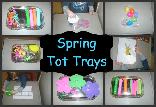 spring tot tray collection