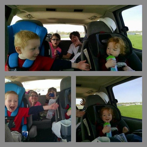 crazy kids in van