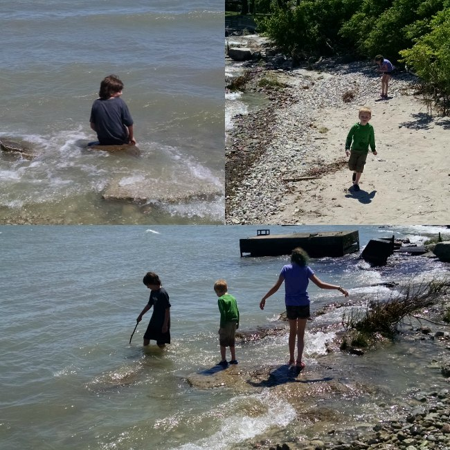 Lake Erie water play