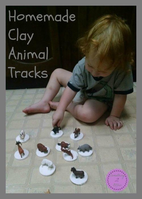 homemade clay animal tracks