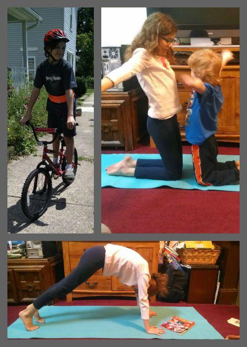 running belt and yoga mat PE items