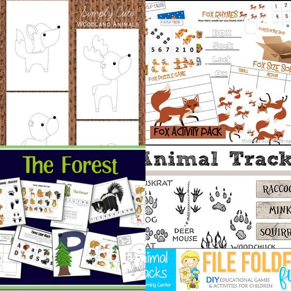 woodland forest animal printables