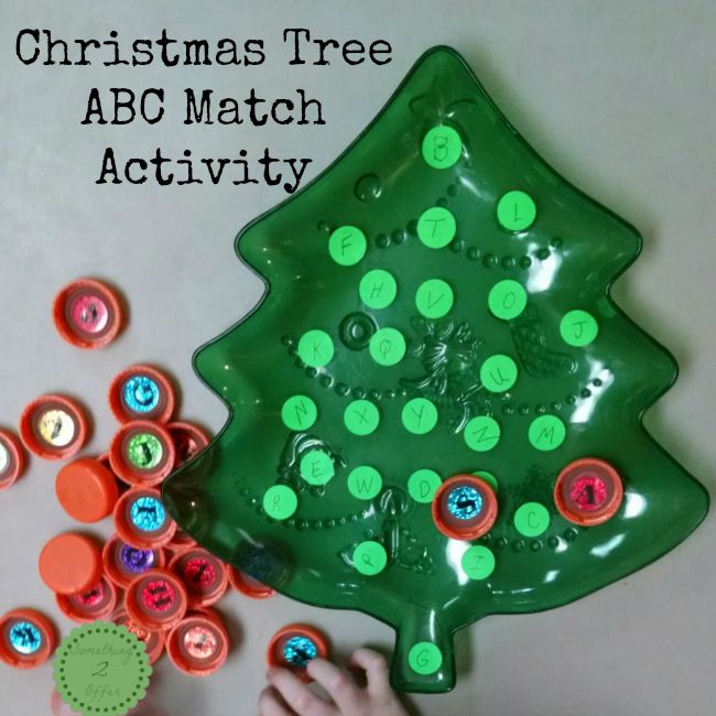 Christmas Tree ABC Match Activity
