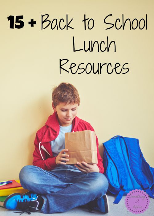 back to school lunch resources