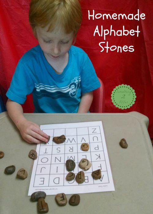 homemade alphabet stones