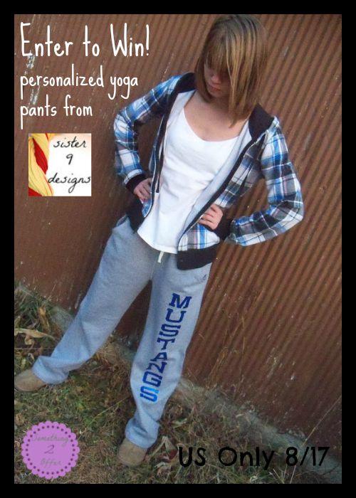 personalized yoga pants
