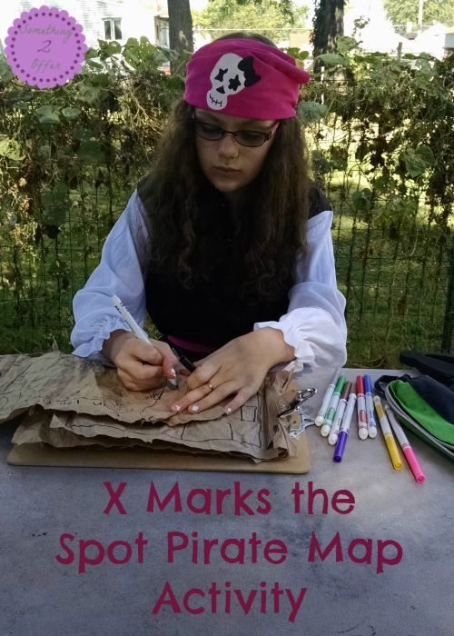 X Marks the Spot Pirate Map Activity