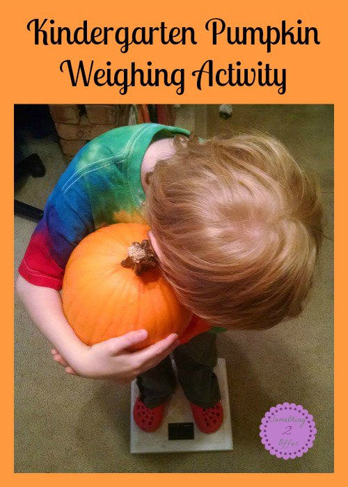 Kindergarten Pumpkin Weighing Activity