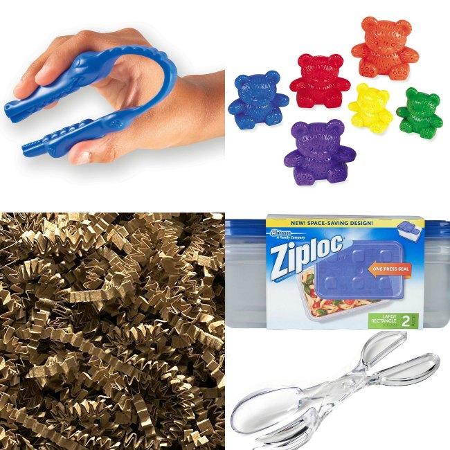 Tools for Rainbow Bears Sensory Bin