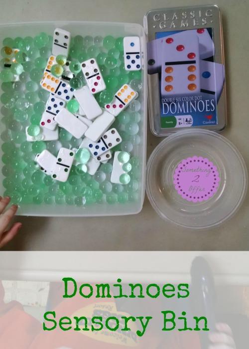 Dominoes Sensory Bin