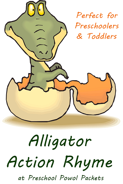 alligator action rhyme label