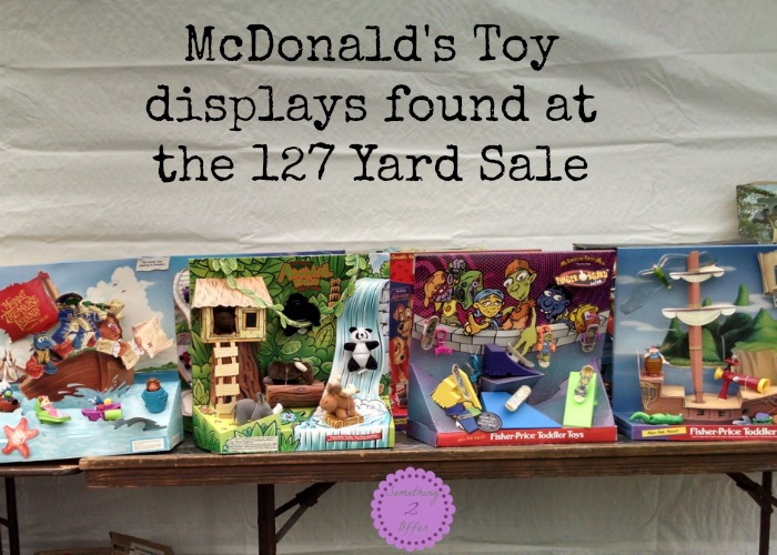127 Yard Sale McDonalds toy displays