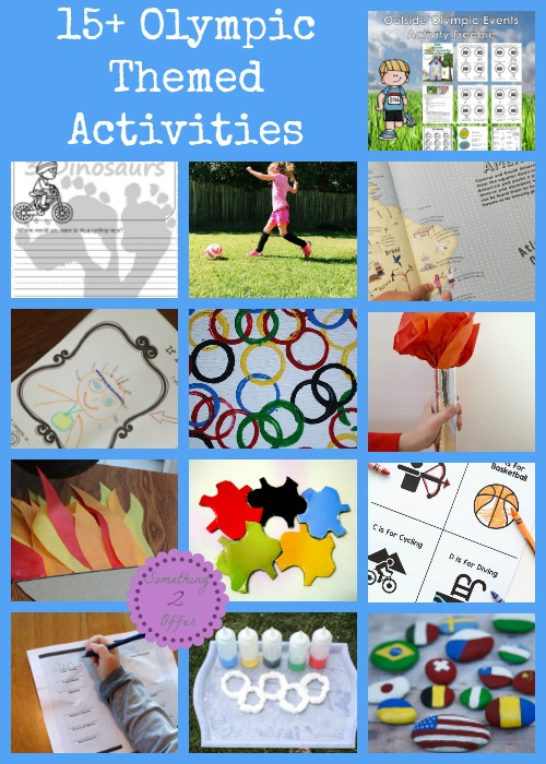 Olympic Themed Crafts and Activities for Kids
