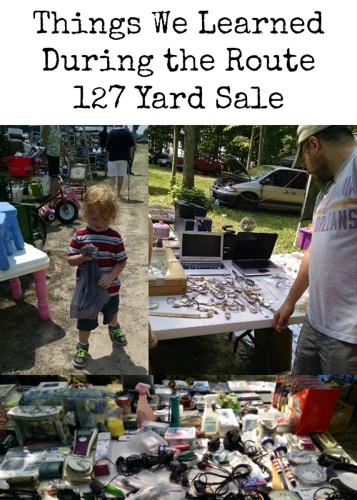 Things We Learned During the Route 127 Yard Sale