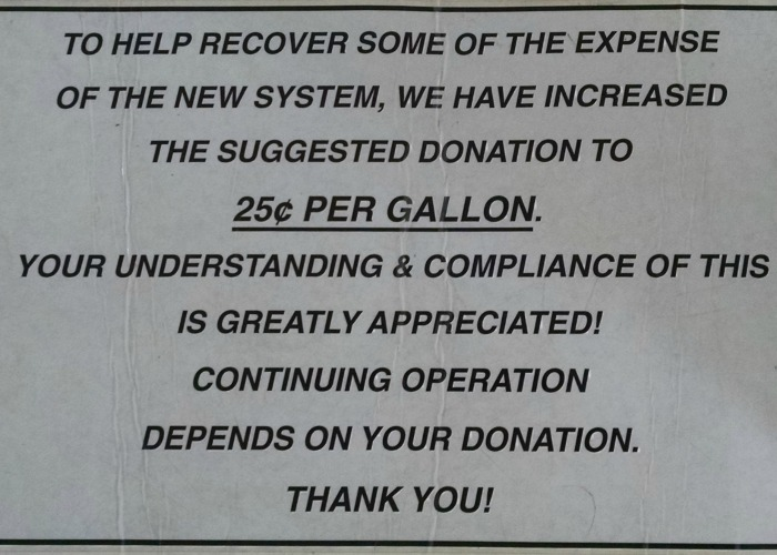 25 per gallon sign
