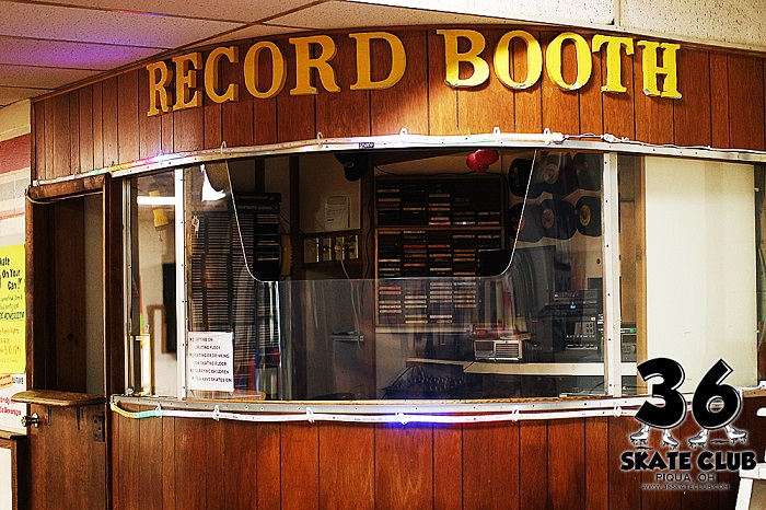 36 Skate Club Record Booth