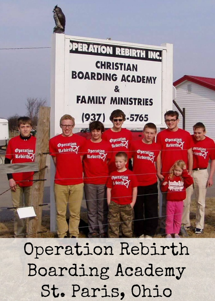 Operation Rebirth Boarding Academy St. Paris, Ohio