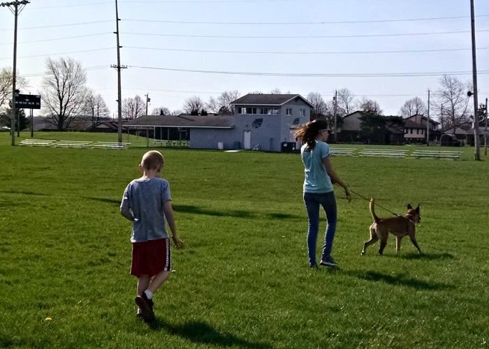 Pistenbarger Sports Complex kids on field