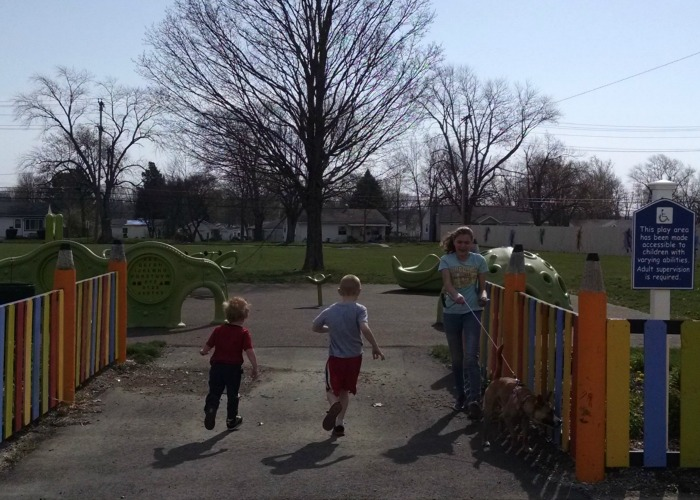 Special Needs Playground running in