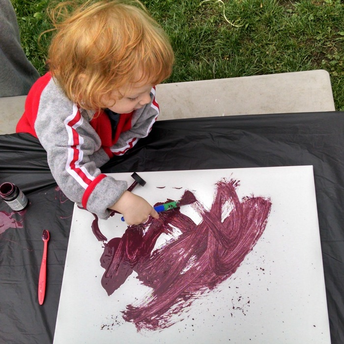 Outdoor Painting with Lil' Red