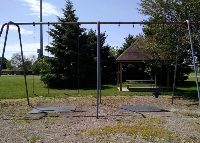 swing and shelter at Robert M. Davis Park