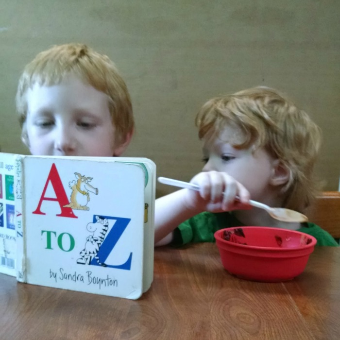 Big Red reading A to Z