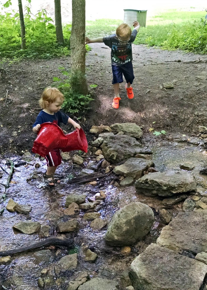 boulder bridge across the creek
