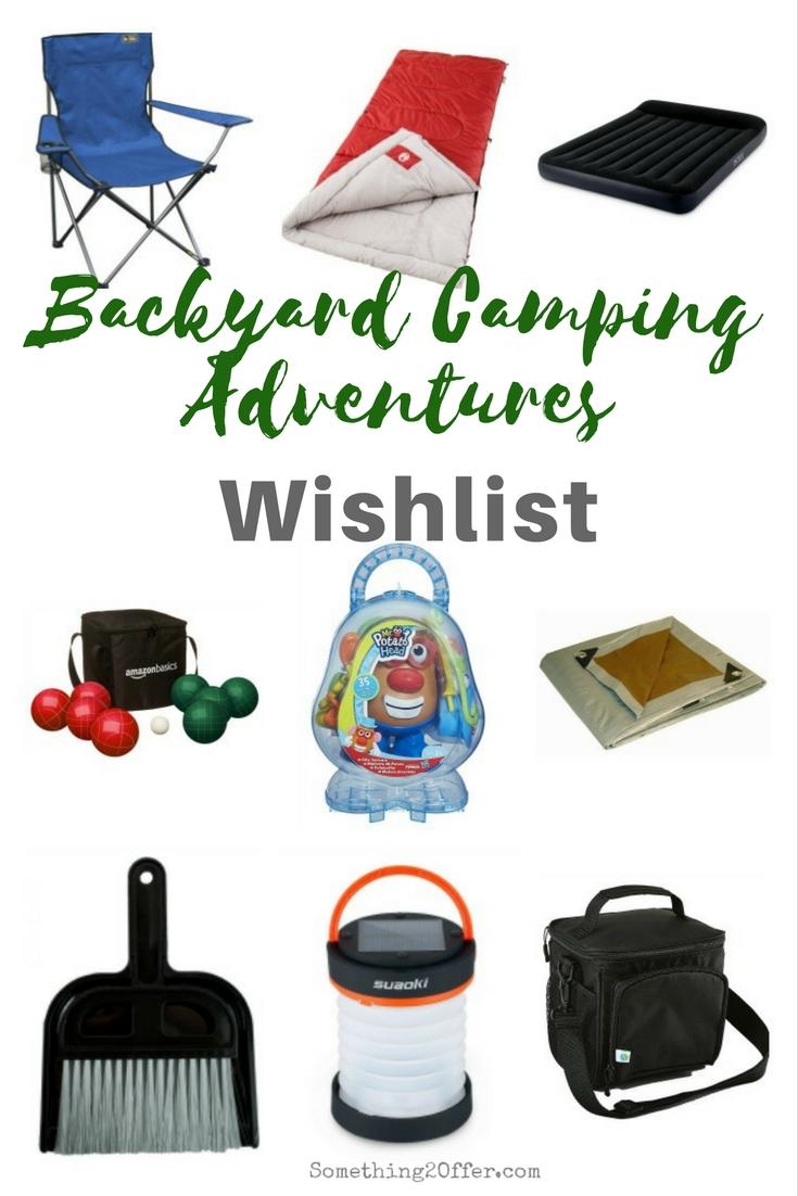 Backyard Camping Wishlist