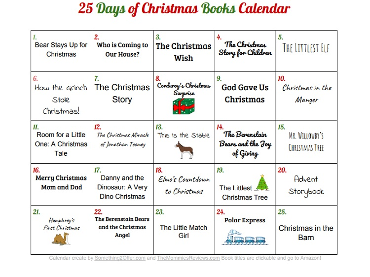 Christmas Books Calendar