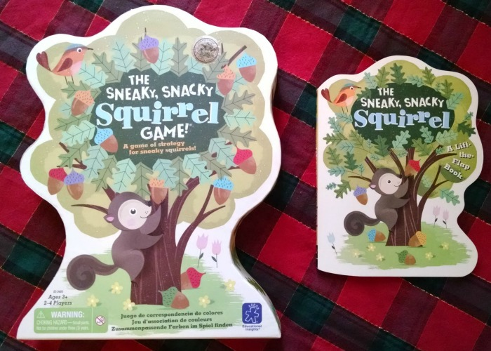 The Sneaky, Snacky Squirrel Game! and book
