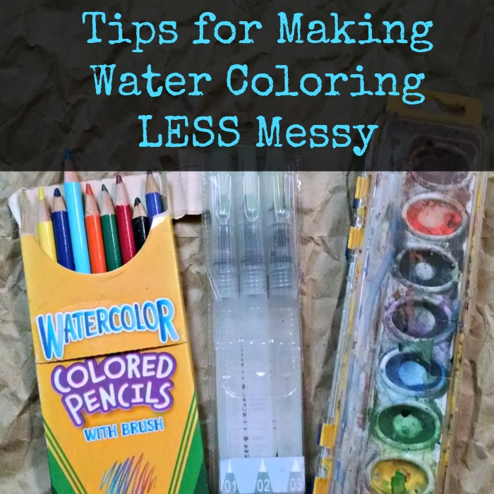 Tips for Making Water Coloring LESS Messy