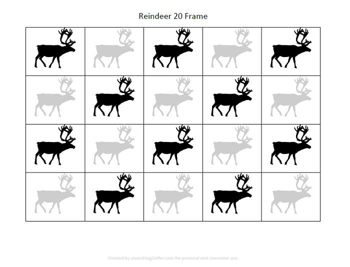 Reindeer Preschool Printable Pack 20 frame