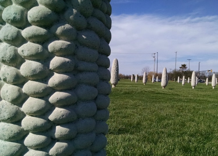 concrete corn cob taken by Riley of Average Geeks