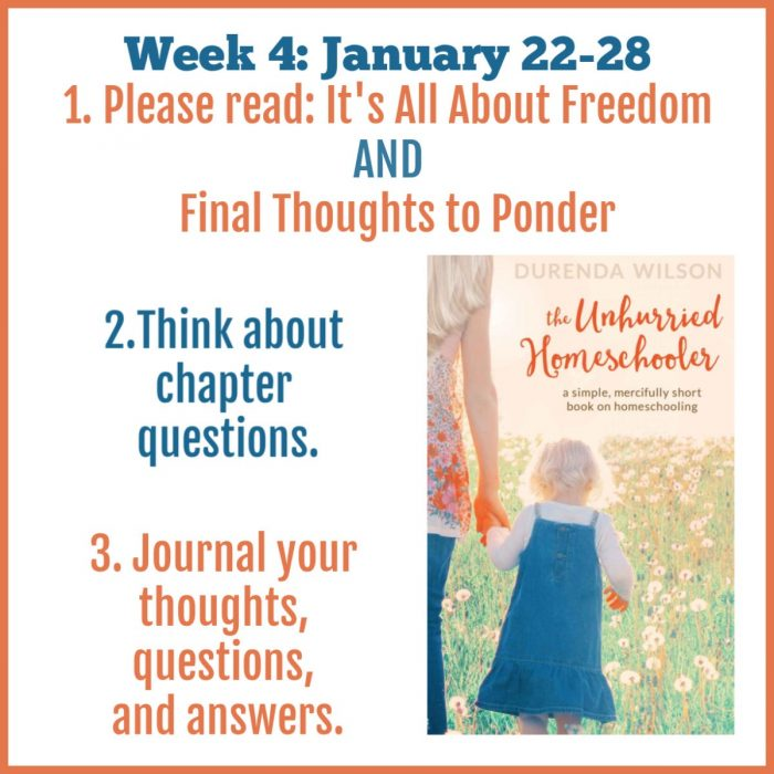 The Unhurried Homeschooler week 4