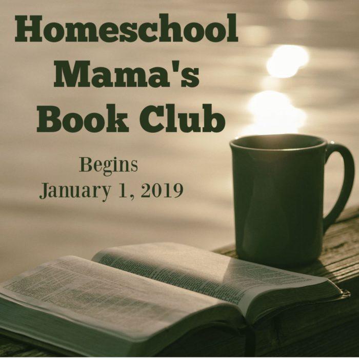 homeschool mama's book club Facebook Post
