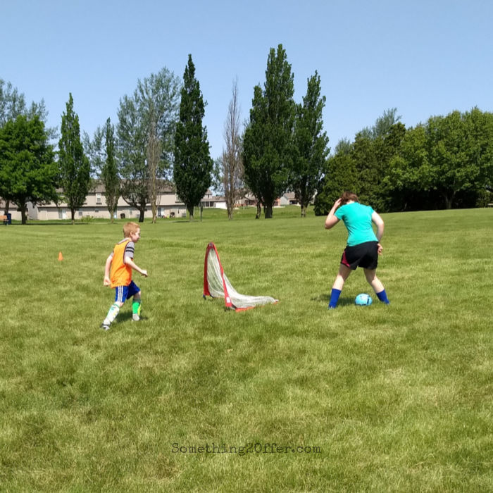 Soccer Camp Trying for a Goal