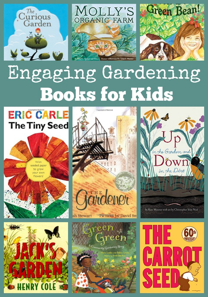 engaging gardening books for kids