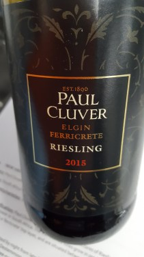 Paul Cluver 'Ferricrete' Riesling Elgin South Africa; delicate, mineral, lime, grapefruit, honey; DELICIOUS; £13