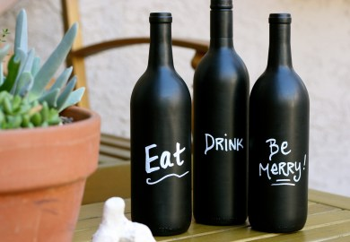 Diy Wine Glasses With Chalk Paint
