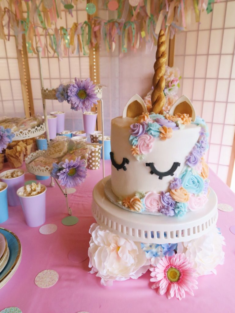 Something About Navy Unicorn Birthday Party