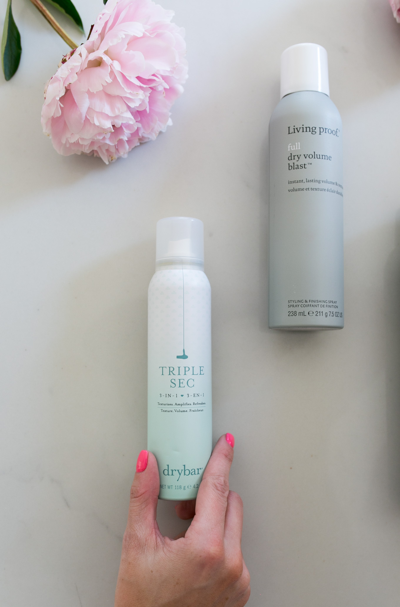 Blogger Daryl-Ann Denner of Something Beautiful share her favorite hair care products for full hair including Dry Bar Triple Sec, Living Proof Full Dry Volume Blast, and Oribe Dry Texturizing Spray